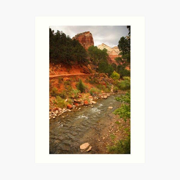 Virgin River, Zion National Park Art Print