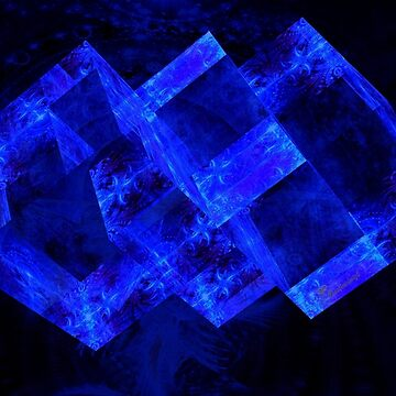 Blue Crystal - from the series Digital Art by comtessek