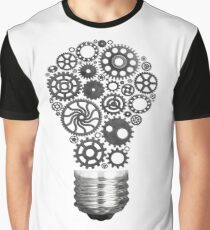 Innovation with ideas and concepts featuring a light bulb cogs working Business isolated Graphic T-Shirt