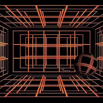 Orange ball in space - from the series Digital Art by comtessek