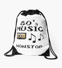80s music nonstop Drawstring Bag