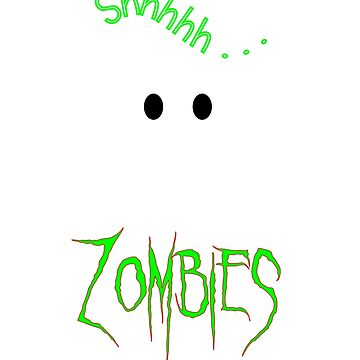 Funny Hiding from Zombies Tshirt by CliqueBank
