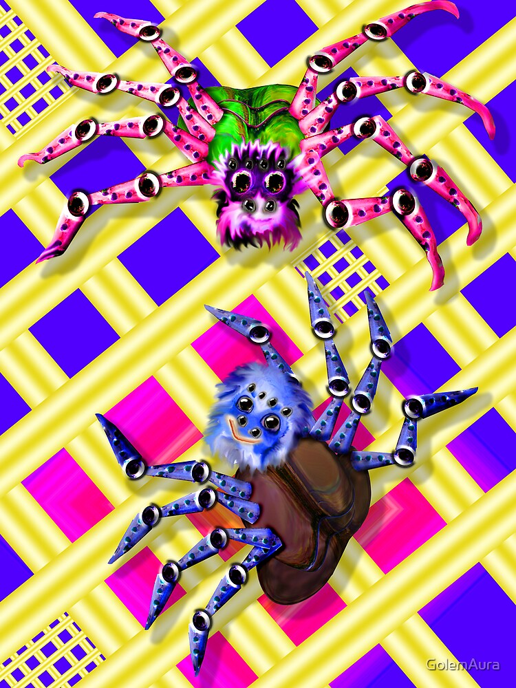 Spiders in Love by GolemAura