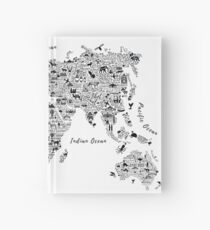 Typography World Map. Notizbuch