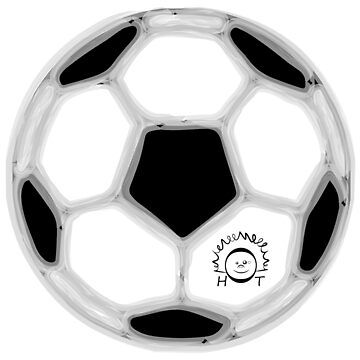 Drawing illustration of a soccer ball by PM-TShirts