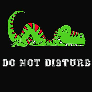 Cute Dino Do Not Disturb by yoddel