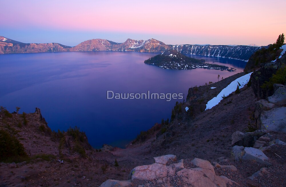 Crater Lake Sunset by DawsonImages