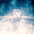 Romantic Flight to the Moon by Paula Belle Flores