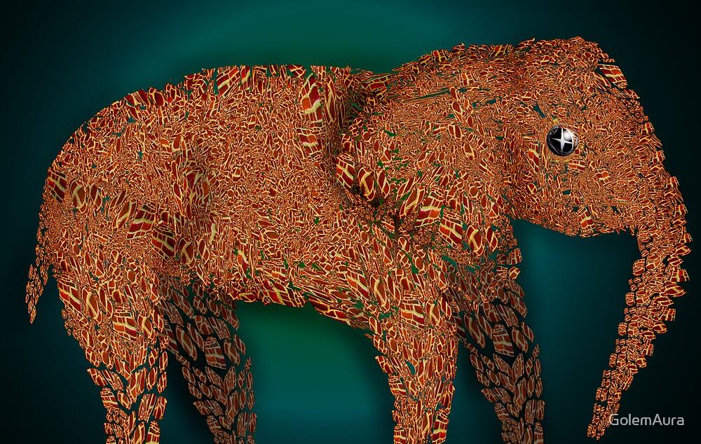 Brick Elephant by GolemAura