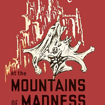 At the Mountains of Madness HP Lovecraft First Edition Book Cover by buythebook86