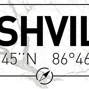 The longitude and latitude of Nashville by efomylod
