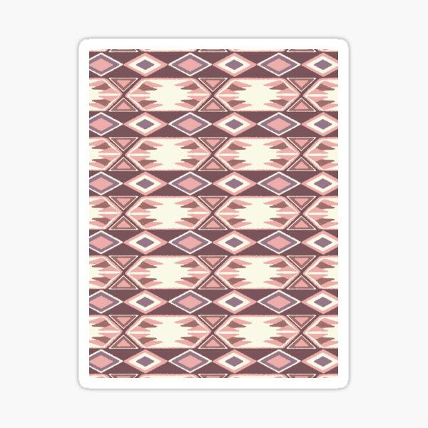 Pink Fall Ikat #redbubble #ikat Sticker