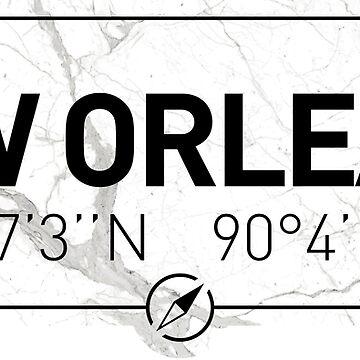 The longitude and latitude of New Orleans by efomylod