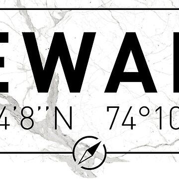 The longitude and latitude of Newark by efomylod