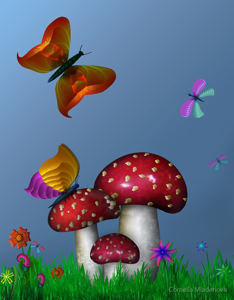 Mushrooms by Cornelia Mladenova