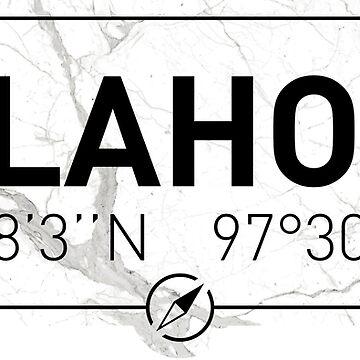 The longitude and latitude of Oklahoma by efomylod