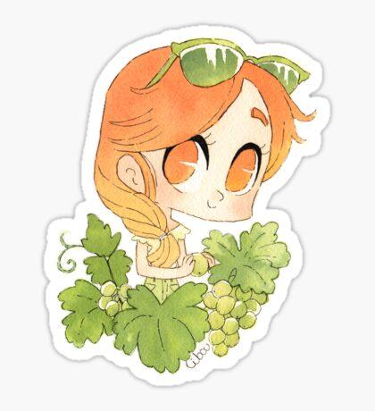 Joli raisin sticker Sticker