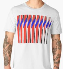 Red White Blue Abstract Men's Premium T-Shirt