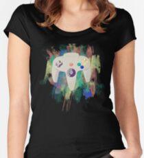 Nintendo in Technicolour Women's Fitted Scoop T-Shirt