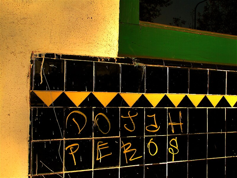 green, yellow, tile by Ted Watson