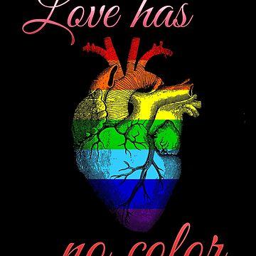 Rainbow flag in the heart by francodelgrando