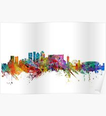 Cape Town South Africa Skyline Poster