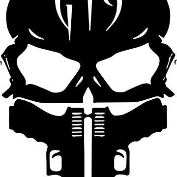 G19 Skull and Guns by FayeLangoulant