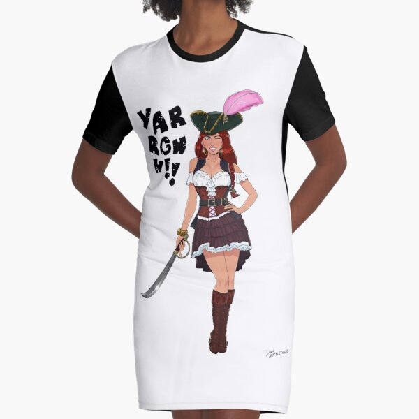 Lusty Pirate Queen Graphic T-Shirt Dress