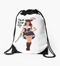 Lusty Pirate Queen Drawstring Bag