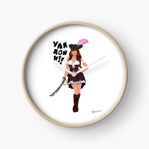 Lusty Pirate Queen Clock