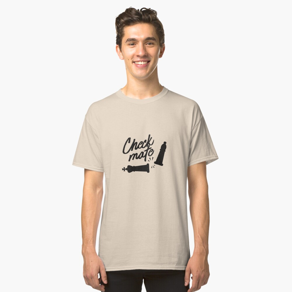 Chess Design Check Mate Move Design For Chess Players Classic T-Shirt Front