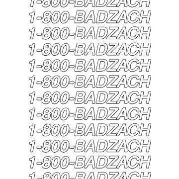 1-800-BadZach by amandamedeiros