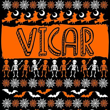Cool Vicar Ugly Halloween Gift t-shirt by BBPDesigns
