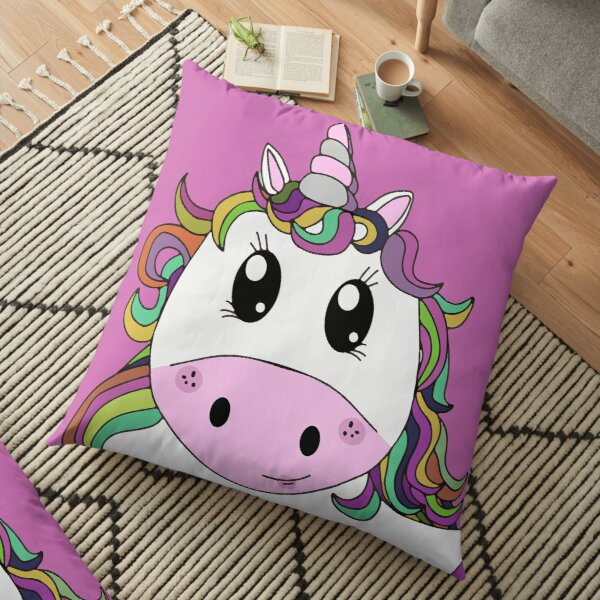 Cutie Pie Pink Unicorn Floor Pillow