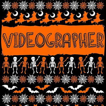 Cool Videographer Ugly Halloween Gift t-shirt by BBPDesigns