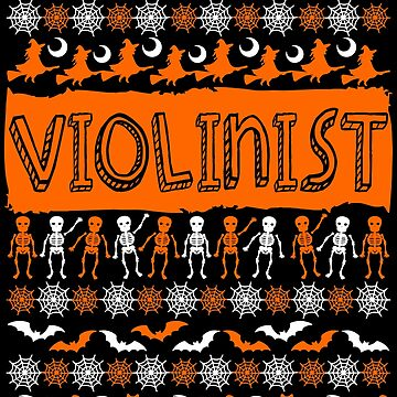 Cool Violinist Ugly Halloween Gift t-shirt by BBPDesigns