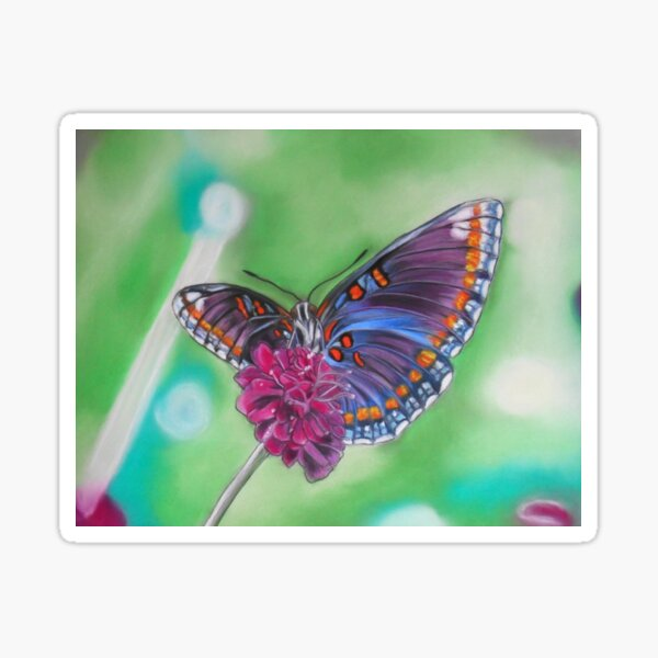Papillon coloré aux pastels Sticker