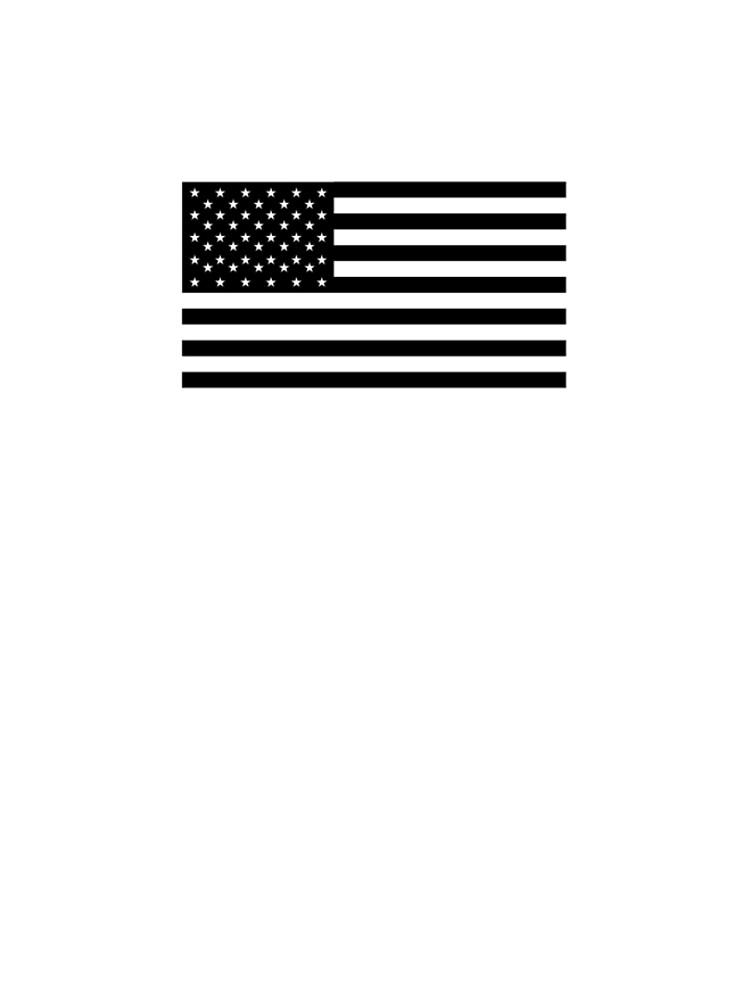 Bandera americana, STARS & STRIPES, EE. UU., América, negro sobre blanco de TOMSREDBUBBLE