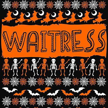 Cool Waitress Ugly Halloween Gift t-shirt by BBPDesigns