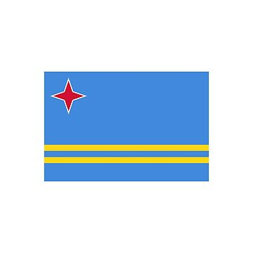 Aruba Flag by RBBeachDesigns