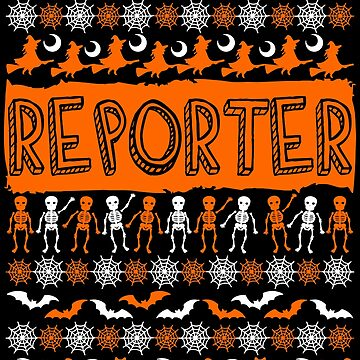 Cool Reporter Ugly Halloween Gift t-shirt by BBPDesigns