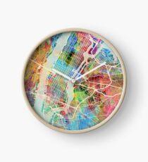 New York City Straßenkarte Uhr