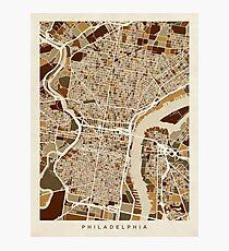 Stadtplan von Philadelphia Fotodruck