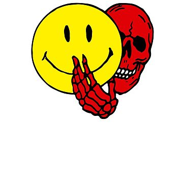 Two Faced Smiley Face Skull by andreirose