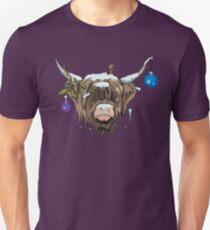 Christmas Highland Cow Unisex T-Shirt