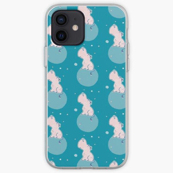 Nilpferd, Flusspferd - blau gemustert iPhone Flexible Hülle