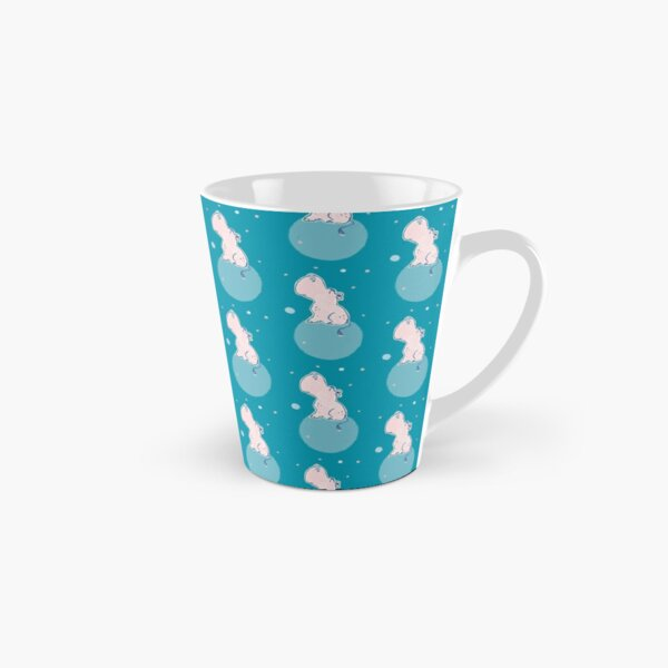 Nilpferd, Flusspferd - blau gemustert Tasse (konisch)