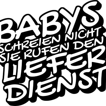 Babies screaming non-baby gift by ihlenfeldter
