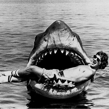 Steven Spielberg on set of Jaws by furioso