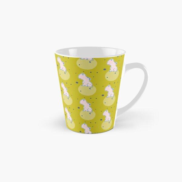 Nilpferd, Flusspferd - grün gemustert Tasse (konisch)